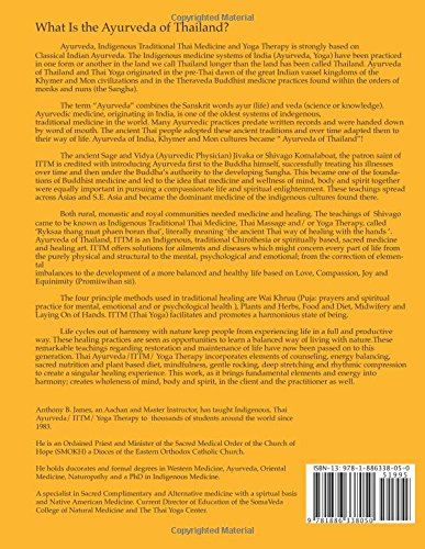 Ayurveda of Thailand book back cover